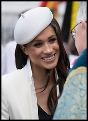 March 12, 2018 - London, London, United Kingdom - Image licensed to i-Images Picture Agency. 12/03/2018. London, United Kingdom. Meghan Markle leaving the Commonwealth Day Service at Westminster Abbey in London. (Credit Image: © Stephen Lock/i-Images via ZUMA Press)