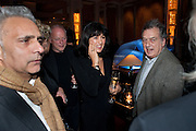 HANIF KUREISHI; DAVID GILMOUR; POLLY SAMSON; STEPHEN FREARS, Ella Krasner and Pablo Ganguli host a Liberatum dinner in honour of Sir V.S.Naipaul. The Landau at the Langham. London. 23 November 2010. -DO NOT ARCHIVE-© Copyright Photograph by Dafydd Jones. 248 Clapham Rd. London SW9 0PZ. Tel 0207 820 0771. www.dafjones.com.