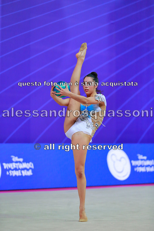 Agiurgiuculese Alexandra  Qualification Ball World Cup Pesaro 2018 Agiurgiuculese Alexandra is an Italian individualistic gymnast, of Romanian origins, of the Italian national rhythmic gymnastics. His team in Italy is AS Udinese coached by Spela Dragas.<br /> She is the only Italian gymnast who has managed to reach four finals for an edition of the 2017 World Championships.