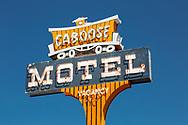 Neon sign, Caboose Motel, Durango, Colorado