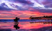 Oceanside Pier Vivid Color Sunset