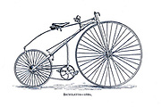 Bicyclette [by Englishman Henry Lawson the first back wheel chain drive bicycle ] 1880 From Wheels and Wheeling; An indispensable handbook for cyclists, with over two hundred illustrations by Porter, Luther Henry. Published in Boston in  1892