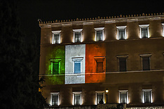 Greek parliament shows solidarity with Italy over the coronavirus, Athens, 3 April 2020