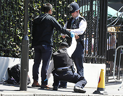 Sir Cliff Richard arrived at Wimbledon with a female guest, Ellie Goulding also arrived along with  Mirka Federer and child. Police were seen searching a suspicious person outside the All England Club<br /><br />2 July 2018.<br /><br />Please byline: Vantagenews.com<br /><br />UK clients should be aware children's faces may need pixelating.
