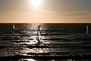 Surfing at the north sea, Zeeland