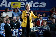 Hillary Clinton at a pre-primary rally at Rhode Island College, Providence I, February 24, 2008..