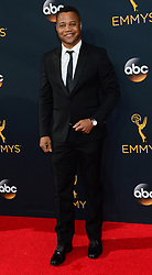 """September 18, 2016 - Los Angeles, California, United States - CUBA GOODING JR., of """"The People v. O.J. Simpson: American Crime Story."""" arrives at the 68th Annual Emmy Awards at the Microsoft Theater. (Credit Image: © Michael Owen Baker/Los Angeles Daily News via ZUMA Wire)"""