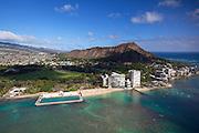 Kaimana Beach, Diamond Head,  Waikiki, Oahu, Hawaii.
