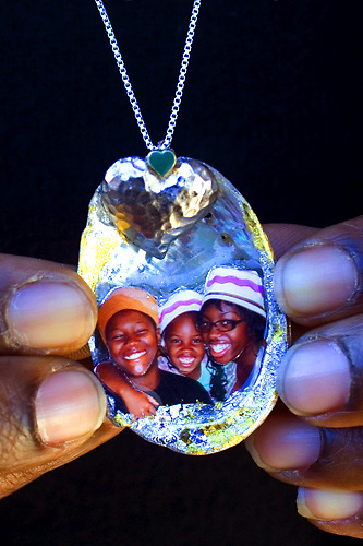 Custom order family pendant by Star Nigro