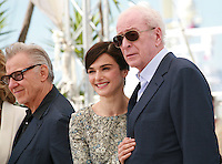Actor Harvey Keitel, Actress Rachel Weisz and Actor Michael Caine at the Youth film photo call at the 68th Cannes Film Festival Tuesday May 20th 2015, Cannes, France.
