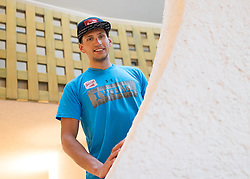 23.05.2016, Hotel Ambach, Kaltern, AUT, OeSV, Nordische Kombination, Trainingslager, im Bild David Pommer (AUT) // David Pommer of Austria during a Photocell of Austrian Ski federation Nordic Combined Team at the Hotel Ambach, Kaltern, Italy on 2015/05/23. EXPA Pictures © 2016, PhotoCredit: EXPA/ Johann Groder