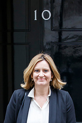 © Licensed to London News Pictures. 14/03/2017. London, UK. Home Secretary AMBER RUDD leaves Downing Street after a cabinet meeting on Tuesday, 14 March 2017. Photo credit: Tolga Akmen/LNP