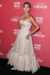 BEVERLY HILLS, LOS ANGELES, CA, USA - NOVEMBER 08: Singer Lady Gaga (Stefani Joanne Angelina Germanotta) wearing a Christian Dior gown arrives at the SAG-AFTRA Foundation's 3rd Annual Patron Of The Artists Awards held at the Wallis Annenberg Center for the Performing Arts on November 8, 2018 in Beverly Hills, Los Angeles, California, United States. 08 Nov 2018 Pictured: Lady Gaga, Stefani Joanne Angelina Germanotta. Photo credit: Xavier Collin/Image Press Agency/MEGA TheMegaAgency.com +1 888 505 6342