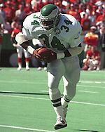 Philadelphia Eagle Herchel Walker (34) during game action against the Kansas City Chiefs at Arrowhead Stadium in Kansas City, Missouri in 1993.