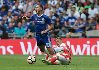 Football - 2017 FA Cup Final - Arsenal vs. Chelsea<br /> <br /> Eden Hazard of Chelsea is fouled by Mesut Ozil of Arsenal at Wembley.<br /> <br /> COLORSPORT/DANIEL BEARHAM