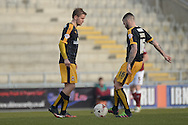 The U's kick off the second half  during the Sky Bet League 2 match between Northampton Town and Cambridge United at Sixfields Stadium, Northampton, England on 12 March 2016. Photo by Dennis Goodwin.
