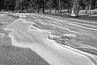 Snow patterns caused by the wind