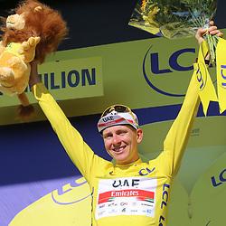 LIBOURNE (FRA) CYCLING: July 16<br /> 19th stage Tour de France Libourne- Saint-Émilion<br /> Tadej Pogcar