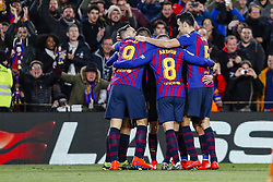 January 30, 2019 - Barcelona, Spain - FC Barcelona midfielder Sergi Roberto (20) celebrates scoring the goal during the match FC Barcelona v Sevilla CF, for the round of 8, second leg of the Copa del Rey played at Camp Nou  on 30th January 2019 in Barcelona, Spain. (Credit Image: © Mikel Trigueros/NurPhoto via ZUMA Press)
