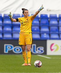 BIRKENHEAD, ENGLAND - Sunday, August 29, 2021: Liverpool goalkeeper Rachael Laws during the FA Women's Championship game between Liverpool FC Women and London City Lionesses FC at Prenton Park. London City won 1-0. (Pic by Paul Currie/Propaganda)