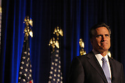 U.S. Presidential hopeful Republican Mitt Romney announces that he will suspend his campaign to be President of the United States during a speech at The American Conservative Union Political Action Conference in Washington, D.C. USA 07 February 2008.