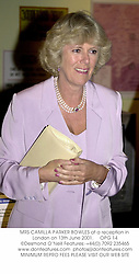 MRS CAMILLA PARKER BOWLES at a reception in London on 13th June 2001.<br />