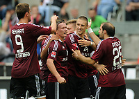 Fotball<br /> Tyskland<br /> 11.09.2011<br /> Foto: Witters/Digitalsport<br /> NORWAY ONLY<br /> <br /> 0:1 Jubel v.l. Tomas Pekhart, Markus Mendler, Alexander Esswein, Timmy Simons, Javier Pinola (Nuernberg)<br /> <br /> Bundesliga; 1. FC Köln - 1. FC Nürnberg