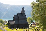 The Urnes Stave Church in Urnes overlooking Sogne Fjord, Vestlandet, Norway, Europe
