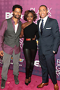 October 12, 2012-New York, NY: (L-R) Recording Artist Eric Benet, Recording Artist Estelle and On-Air personality TJ Holmes at the Black Girls Rock! Shot Callers Dinner presented by BET Networks and sponsored by Chevy held at Espace on October 12, 2012 in New York City. BLACK GIRLS ROCK! Inc. is 501(c)3 non-profit youth empowerment and mentoring organization founded by DJ Beverly Bond, established to promote the arts for young women of color, as well as to encourage dialogue and analysis of the ways women of color are portrayed in the media. (Terrence Jennings)