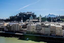 20.03.2014, Salzburg, AUT, Stadtansicht Salzburg, im Bild Die Festung Hohensalzburg ueber der Altstadt // Cityscape of Salzburg, Austria on 2014/03/20. EXPA Pictures © 2014, PhotoCredit: EXPA/ Freshfocus/ Andy Mueller<br /> <br /> *****ATTENTION - for AUT, SLO, CRO, SRB, BIH, MAZ only*****