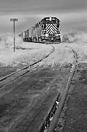 Having traveled 108 miles from Cheney over a two-day period, the crew has finally reached the end of the line at Coulee City with 55 cars to spot. They will leave the power here for the night and drive two hours back to Cheney. Tomorrow after the elevator has finished loading the cars, they will start the journey back again.