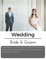 Posing Cards - bride and groom