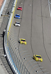 March 4, 2018 - Las Vegas, NV, U.S. - LAS VEGAS, NV - MARCH 04: Joey Logano (22) Team Penske Pennzoil Ford Fusion and Ryan Blaney (12) Team Penske Ford Fusion during the Monster Energy NASCAR Cup Series Pennzoil 400 on March 04, 2018 at Las Vegas Motor Speedway in Las Vegas, NV. (Photo by Chris Williams/Icon Sportswire) (Credit Image: © Chris Williams/Icon SMI via ZUMA Press)