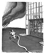(UN inaction in dealing with the conflagration in Cyprus)