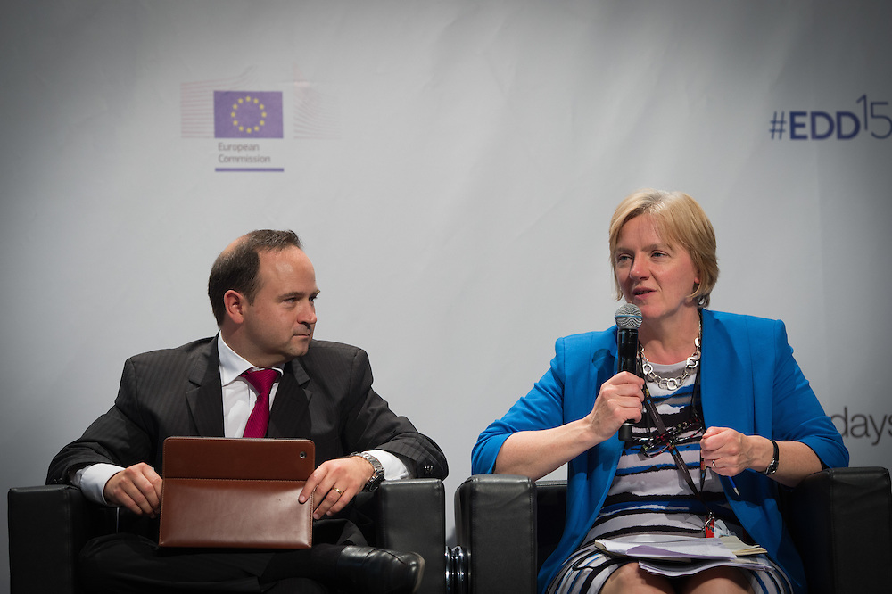 03 June 2015 - Belgium - Brussels - European Development Days - EDD - Inclusion - Social enterprise - Stemming the tide on income inequality - Linda McAvan , Chair of the Committee on Development , European Parliament - Diego Angel-Urdinola, Senior Economist for Middle East and North Africa, The World Bank Group  © European Union