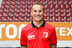 08.07.2015, WWK Arena, Augsburg, GER, 1. FBL, FC Augsburg, Fototermin, im Bild Co-Trainer Tobias Zellner (FC Augsburg) // during the official Team and Portrait Photoshoot of German Bundesliga Club FC Augsburg at the WWK Arena in Augsburg, Germany on 2015/07/08. EXPA Pictures © 2015, PhotoCredit: EXPA/ Eibner-Pressefoto/ Kolbert<br /> <br /> *****ATTENTION - OUT of GER*****