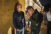 DINOS CHAPMAN; PAUL SIMONON, VIP opening  of the new Serpentine Sackler Gallery designed by Zaha Hadid . Kensinton Gdns. London. 25 September 2013