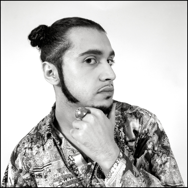 Supa DJ Dmitry (born Dmitry Brill) Deee-Lite photographed for the cover of Outweek Magazine in New York City in September of 1990.