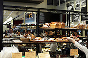 French bakery with fresh bread displayed in Tokyo Japan