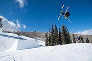 Nick Goepper during Ski Slopestyle Practice during 2015 X Games Aspen at Buttermilk Mountain in Aspen, CO. ©Brett Wilhelm/ESPN