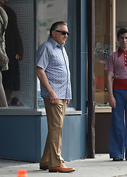 "Actors Robert De Niro, Joe Pesci and director Martin Scorsese on the set of their new crime drama ""The Irishman,"" presently filming on location in New York City. De Niro was observed wearing platform shoes during a walking scene. 21 Sep 2017 Pictured: Robert De Niro. Photo credit: AJR Photo / MEGA TheMegaAgency.com +1 888 505 6342"