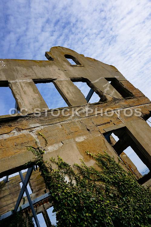 Old Run Down Prison Building on Alcatraz