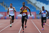 Dwain Chambers running during the 100m heat race.The British Championships 2016, athletics event at the Alexander Stadium in Birmingham, Midlands  on Friday 24th June 2016.<br /> pic by John Patrick Fletcher, Andrew Orchard sports photography.