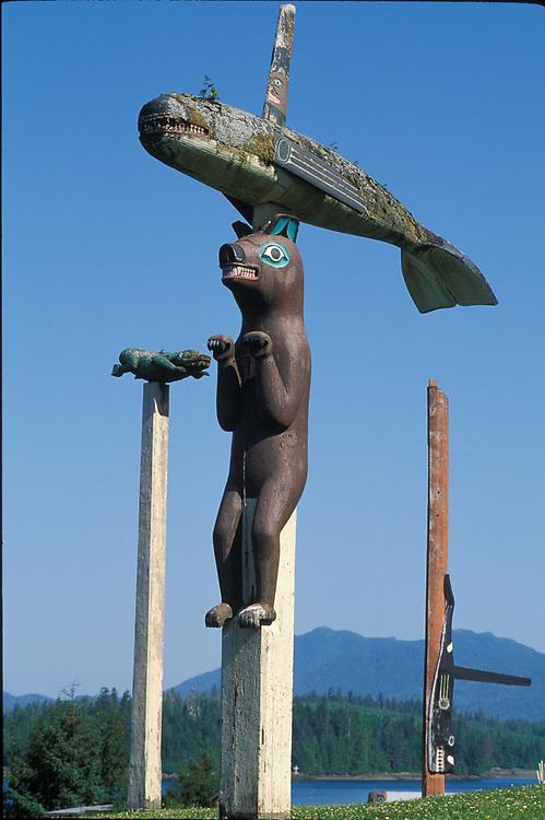 Totems at Klawock, Prince of Wales Island, Alaska