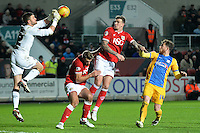 Bristol City's Richard O'Donnell clears the ball <br /> <br /> Photographer Ian Cook/CameraSport<br /> <br /> Football - The Football League Sky Bet Championship - Bristol City v Preston North End - Tuesday 12th January 2016 -  Ashton Gate - Bristol<br /> <br /> © CameraSport - 43 Linden Ave. Countesthorpe. Leicester. England. LE8 5PG - Tel: +44 (0) 116 277 4147 - admin@camerasport.com - www.camerasport.com