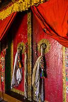 Doors, Diskit Monastery, Nubra Valley, Ladakh; Jammu and Kashmir State, India.