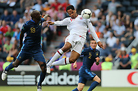 FOOTBALL - UEFA EURO 2012 - DONETSK - UKRAINE - GROUP STAGE - GROUP D - FRANCE v ENGLAND - 11/06/2012 - PHOTO PHILIPPE LAURENSON / DPPI - ALOU DIARRA (FRA)  / JOLEON LESCOTT (ANG) GOAL