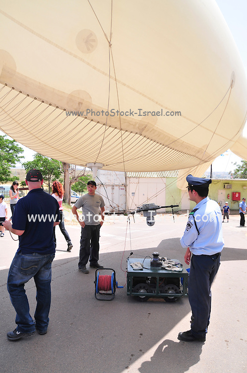 Israeli Police crowd control and safety helium balloon