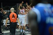 DESCRIZIONE : Bologna campionato serie A 2013/14 Acea Virtus Roma Enel Brindisi <br /> GIOCATORE : Jordan Taylor<br /> CATEGORIA : esultanza<br /> SQUADRA : Acea Virtus Roma<br /> EVENTO : Campionato serie A 2013/14<br /> GARA : Acea Virtus Roma Enel Brindisi<br /> DATA : 20/10/2013<br /> SPORT : Pallacanestro <br /> AUTORE : Agenzia Ciamillo-Castoria/GiulioCiamillo<br /> Galleria : Lega Basket A 2013-2014  <br /> Fotonotizia : Bologna campionato serie A 2013/14 Acea Virtus Roma Enel Brindisi  <br /> Predefinita :