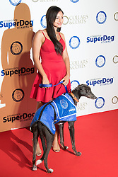 "Battersea, London, November 3rd 2016.  Celebrities and their dogs attend The Evolution at Battersea Park to attend The Battersea Dogs and Cats Home ""Collars and Coats Ball"". PICTURED: Leah Weller"